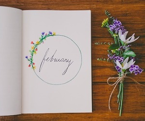 february, wood, and flower image