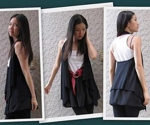 diy, clothes, and vest image