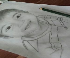 drawing, child, and kind image