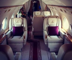 luxury, private jet, and plane image