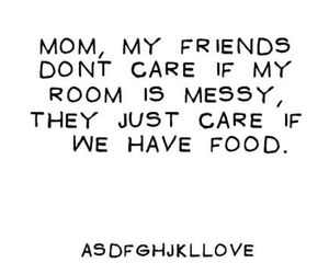food, friends, and mom image