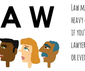 cartoon, Law, and law student image