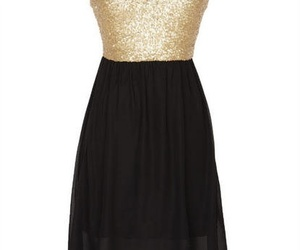 gold & black dress girl image