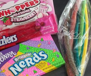 candy, milkshake, and nerds image