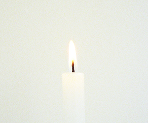 candle and white image