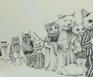 cat, cats, and art image