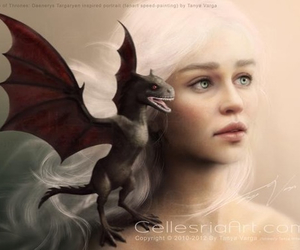 game of thrones, dragon, and emilia clarke image
