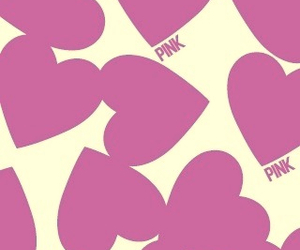 pink, hearts, and background image