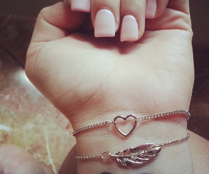 heart, girl, and nails image