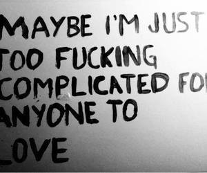 alone, love, and complicated image