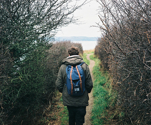 bag, hike, and hiking image
