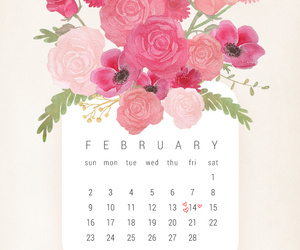 february, love, and flowers image