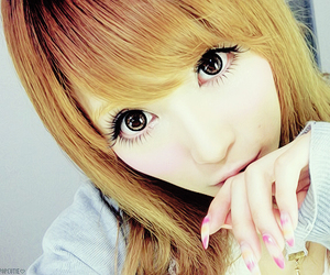 gyaru, asian, and circle lenses image