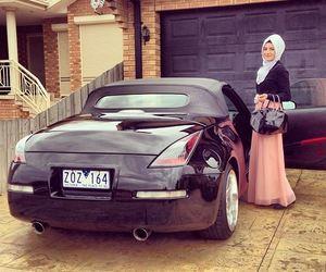 hijab, car, and muslim image