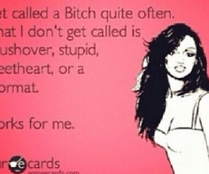 bitch, ecards, and names image
