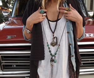 fashion, rings, and necklace image