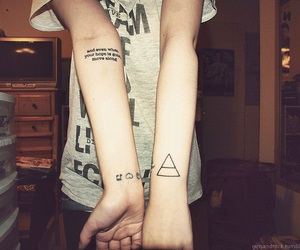 tattoo, 30 seconds to mars, and triad image