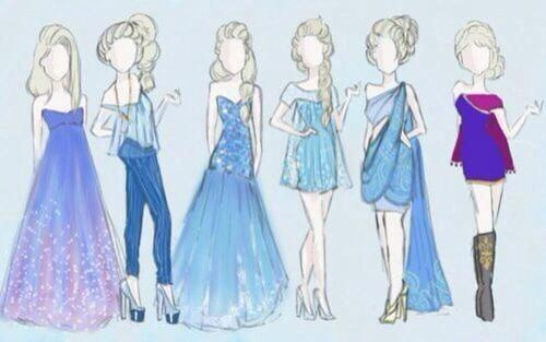 Elsa inspired outfit ideas  on We Heart It