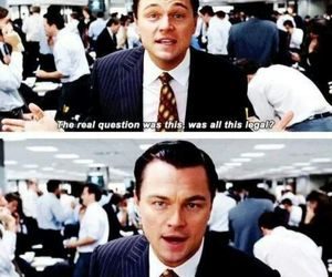 funny, leonardo dicaprio, and the wolf of wall street image
