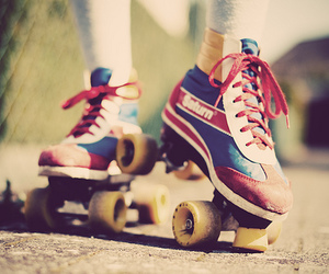 skate, vintage, and retro image