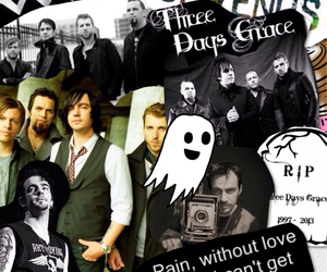 Collage, ghost, and three days grace image