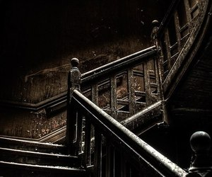 old, stairs, and steps image