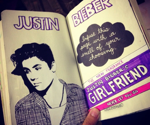 believe, justin, and girlfriend image