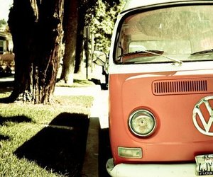 car, pink, and vans image