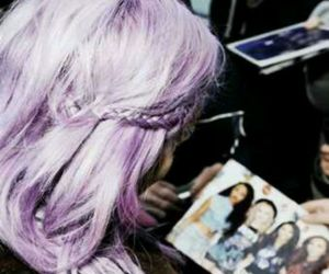 perrie edwards, little mix, and purple hair image