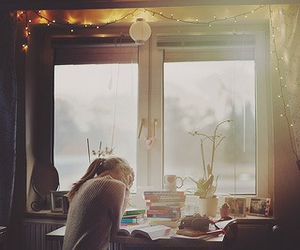 book, window, and studying image