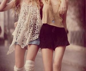 bff, girls, and cute fashion image