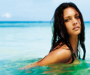 girl, sea, and brunette image