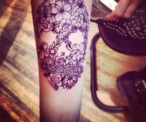 cool, flowers, and tattoo image
