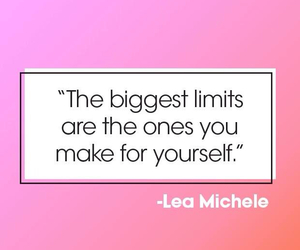 quote, lea michele, and Teen Vogue image