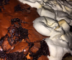 brownies, fat, and marshmallow image