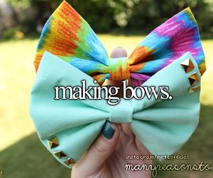 bows, diy, and girly image