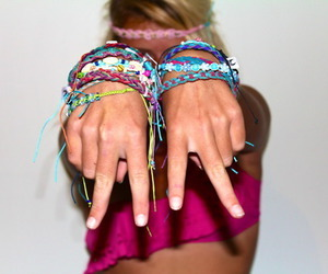 girl, bracelet, and peace image