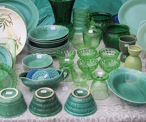 cup, emerald, and glass image