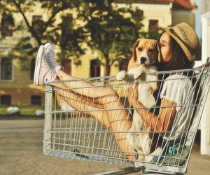 girl, dog, and summer image