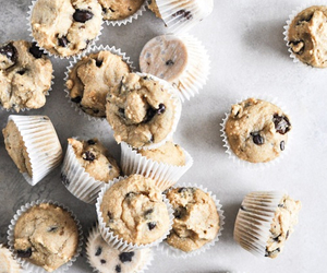 food, muffin, and chocolate image