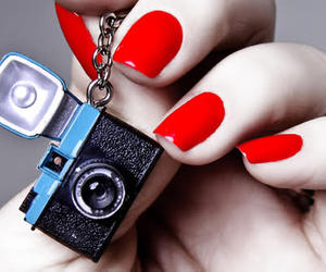 nails, camera, and pink image