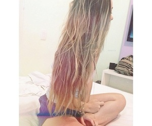 beauty, ombre hair, and love image