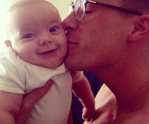 colton haynes and baby image