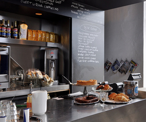 cafe, food, and interior image