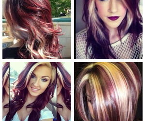awesome, blonde, and burgundy image
