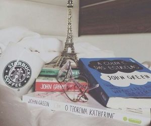 book, john green, and starbucks image