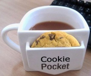 cookie, coffee, and pocket image