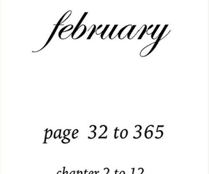 february, page, and chapter image