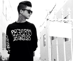 t.mills, boy, and black and white image