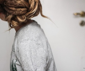 dread, girl, and hair image